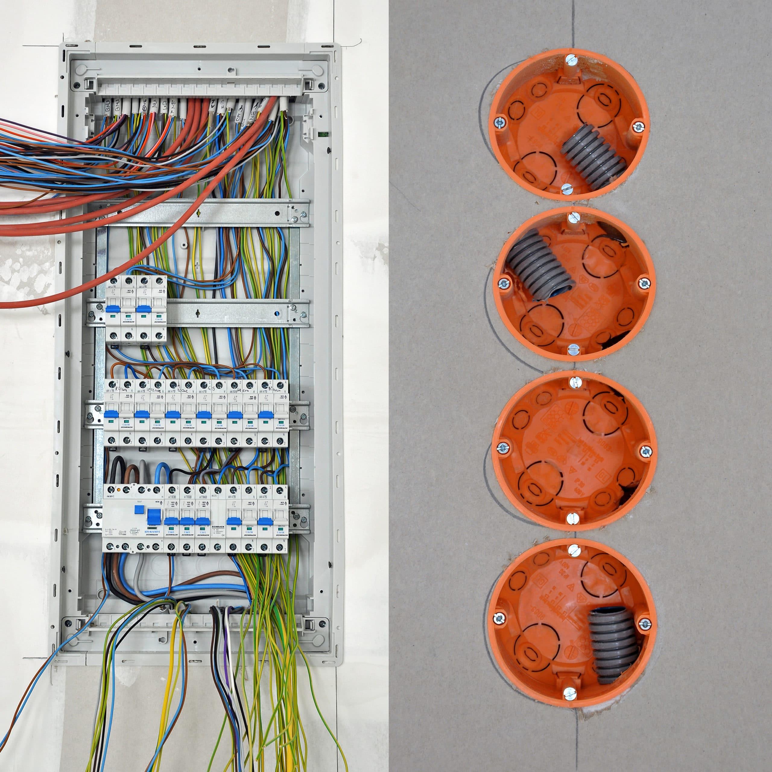 Elektroarbeiten werden ausgeführt